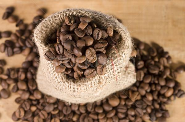 Saco café natureza morta textura fundo Foto stock © sharpner