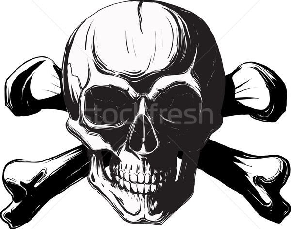 頭蓋骨 クロス 骨 人間 海賊 シンボル ストックフォト © sharpner