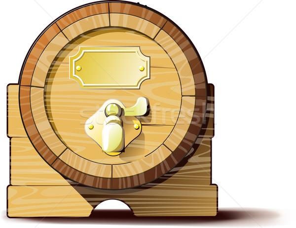 Oude houten klassiek vat wijn bier Stockfoto © sharpner