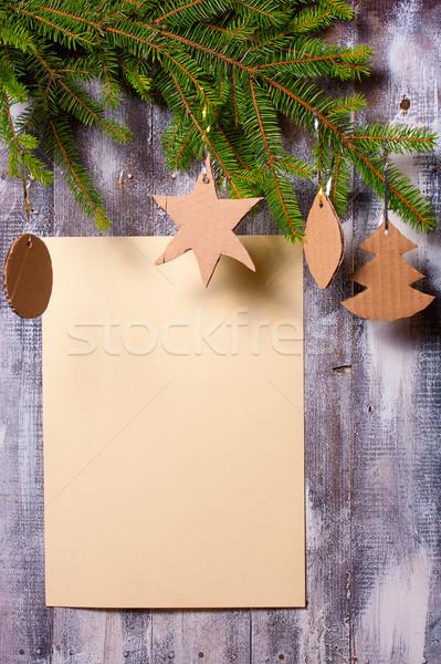 クリスマス 花輪 壁 装飾 ストックフォト © sharpner