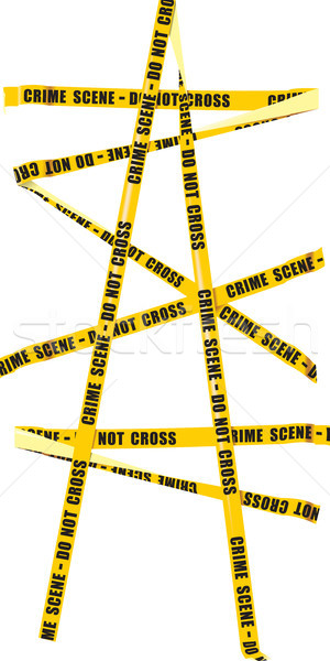 Yellow Police Tape Stock photo © sharpner