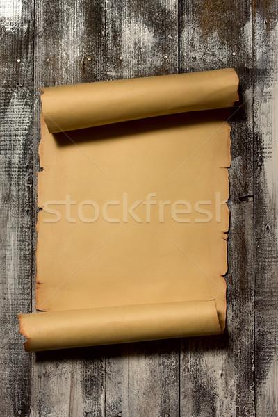 ヴィンテージ スクロール 古代 木製 ストックフォト © sharpner
