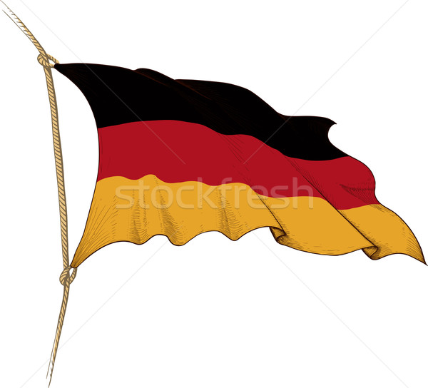 флаг Германия форме старые Сток-фото © sharpner