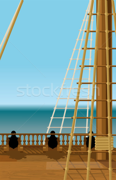 Deck of the old ship Stock photo © sharpner