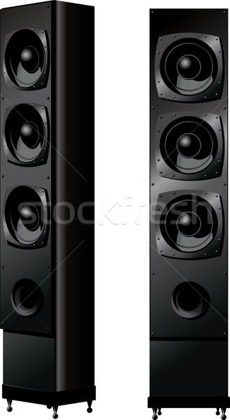 Függőleges musical dinamika kettő elöl kilátás Stock fotó © sharpner