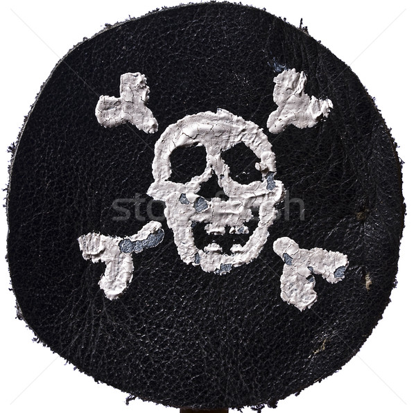 Pirata preto couro crânio morte Foto stock © sharpner