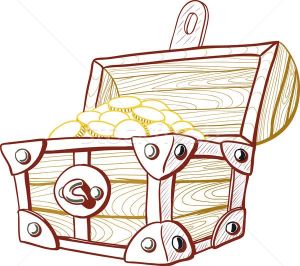 Schatkist piraat Open vol geld business Stockfoto © sharpner