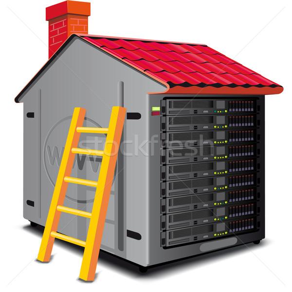 Web szerver fogas ház tető térkép terv Stock fotó © sharpner