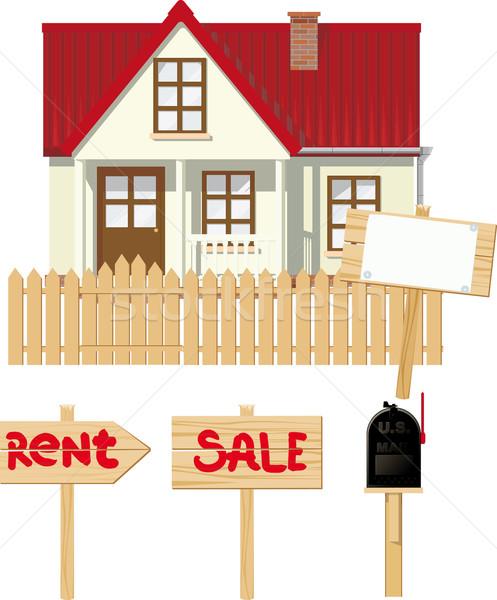 Casa alugar venda pequeno rural caixa de correio Foto stock © sharpner