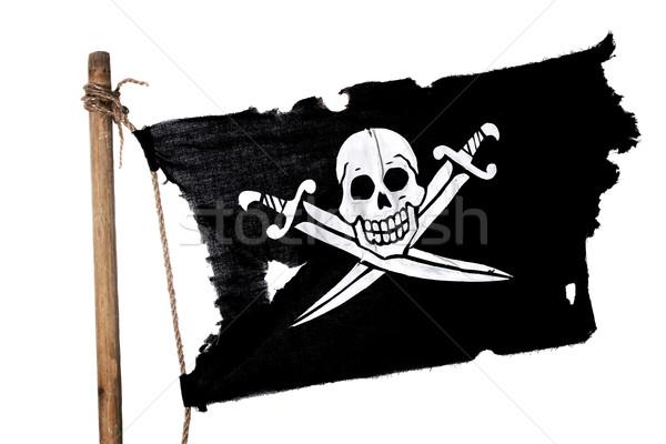 Waving Pirate Flag Stock photo © sharpner