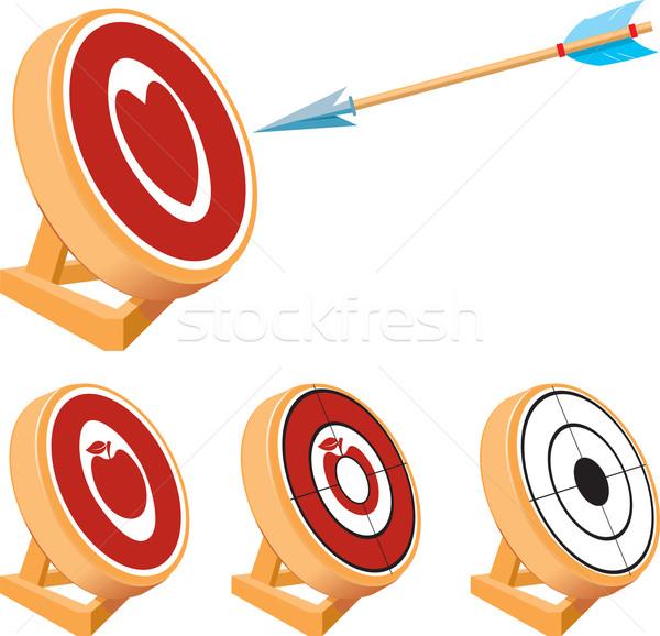 целевой набор небольшой стрельба из лука простой форме Сток-фото © sharpner