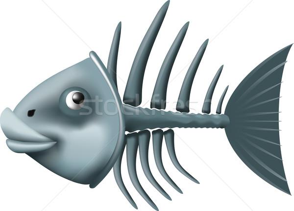 рыбы скелет изолированный белый продовольствие глаза Сток-фото © sharpner