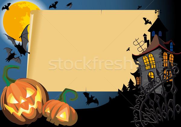 Halloween Card with blank Stock photo © sharpner