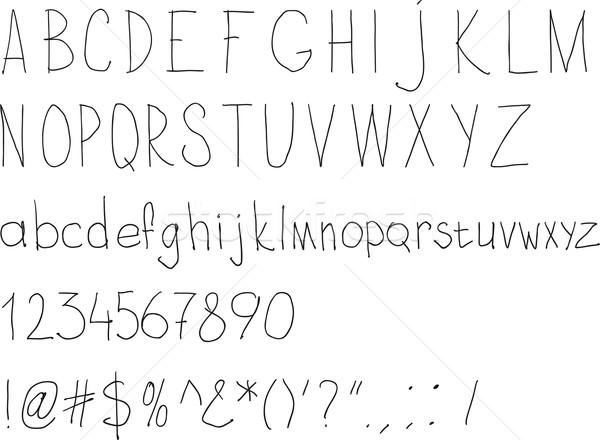простой почерк алфавит ежедневно стороны дизайна Сток-фото © sharpner