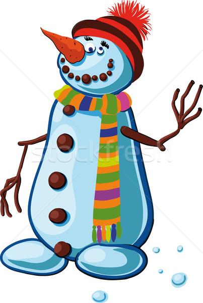 Boneco de neve bobo sorrir pessoas Foto stock © sharpner