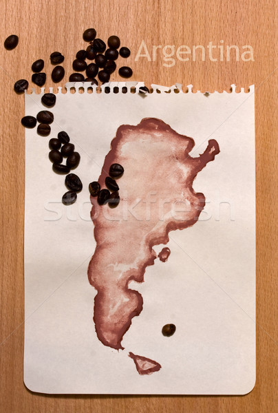 Map Of Argentina Stock photo © sharpner