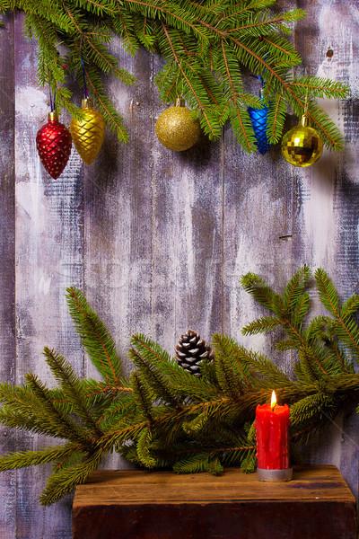 Christmas krans muur decoratie Stockfoto © sharpner