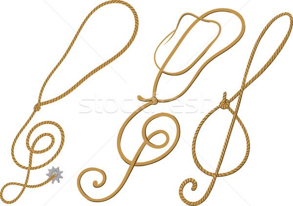 Cowboy klucz wiolinowy stylu formularza projektu koncertu Zdjęcia stock © sharpner