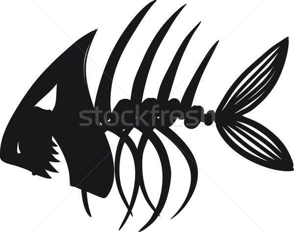 悪 魚 スケルトン スケッチ 黒 医療 ストックフォト © sharpner
