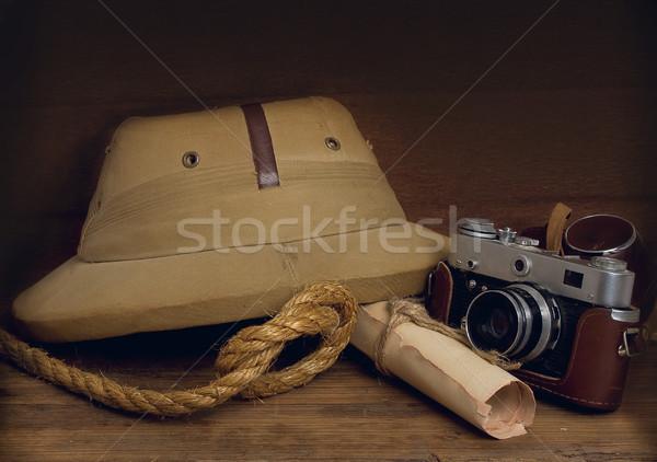 Kurk camera stilleven oude haveloos koloniaal Stockfoto © sharpner