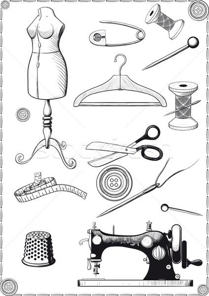 швейных большой набор Vintage Сток-фото © sharpner