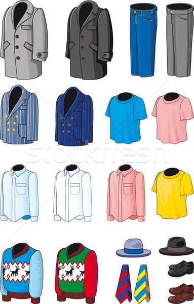 Gyűjtemény felsőruházaz visel üzlet lezser sportruházat Stock fotó © sharpner