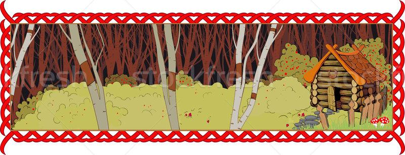 孤独 家 妖精 森林 コテージ 長い ストックフォト © sharpner