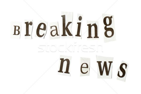 Breaking news Stock photo © ShawnHempel