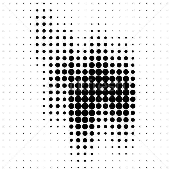 Abstract halftone soundwave design element Stock photo © ShawnHempel