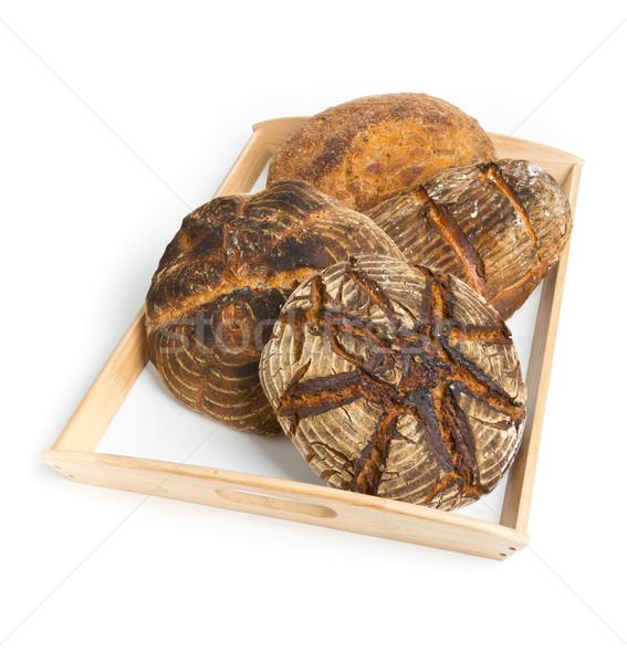 Bread loaves on serving tray Stock photo © ShawnHempel