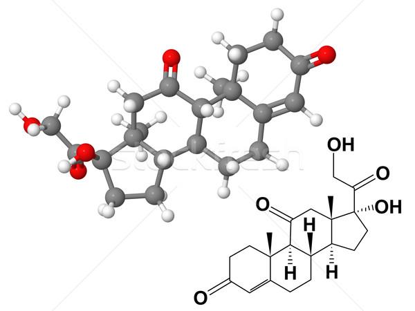 Zdjęcia stock: Chemicznych · wzoru · odizolowany · biały · model · nauki