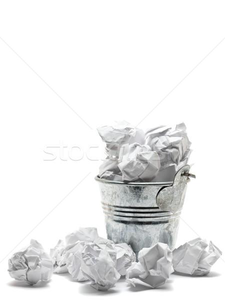 Atık sepet kağıtları Metal kâğıt hüsran Stok fotoğraf © ShawnHempel