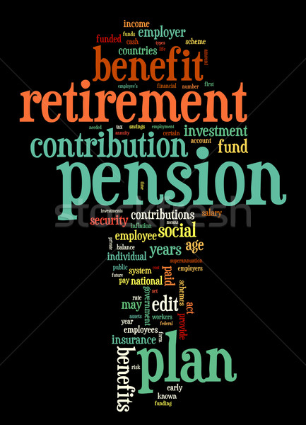 Pension retraite tag nuage nuage de mots Photo stock © ShawnHempel