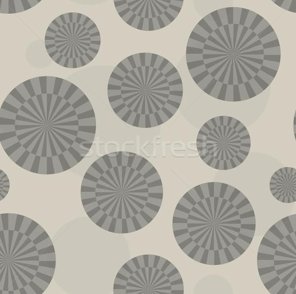Brownish abstract sunray circle pattern Stock photo © ShawnHempel