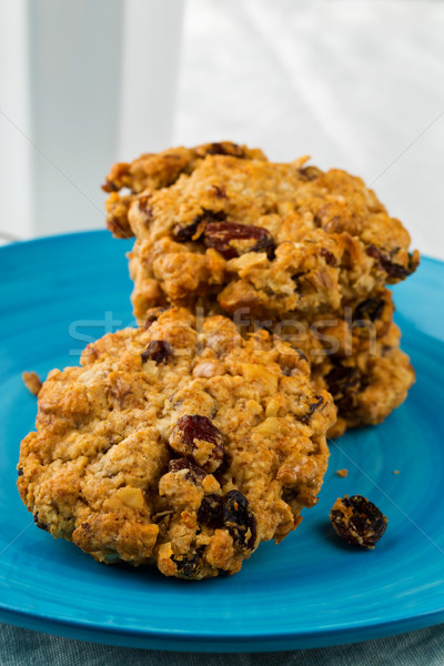 Oatmeal-walnut cookies Stock photo © ShawnHempel