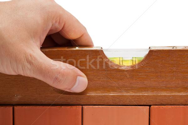 ремесленник дух уровень кирпичная стена дома Сток-фото © ShawnHempel
