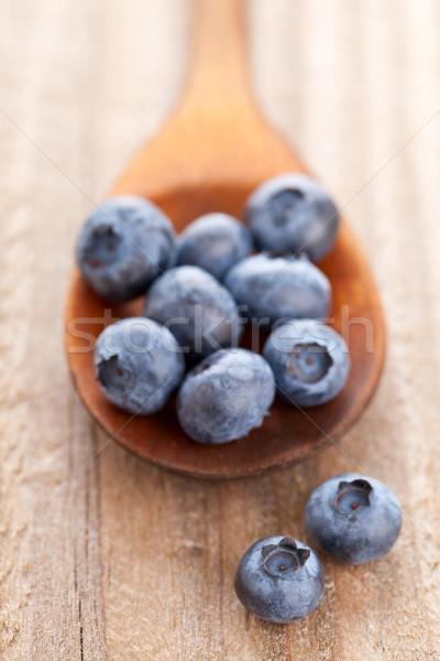 Blueberries in wooden scoop Stock photo © ShawnHempel