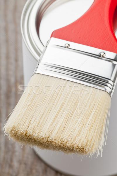 Paint brush and can Stock photo © ShawnHempel