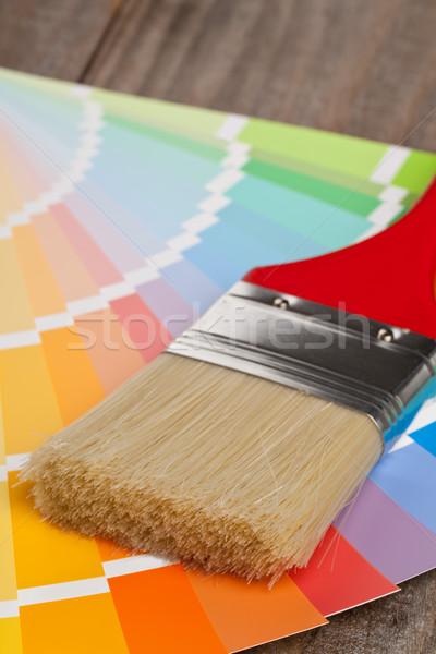 Kolor wykres przewodnik szczotki Zdjęcia stock © ShawnHempel