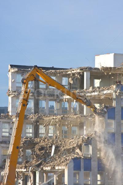 Bina yıkım ev şehir çalışmak Stok fotoğraf © ShawnHempel