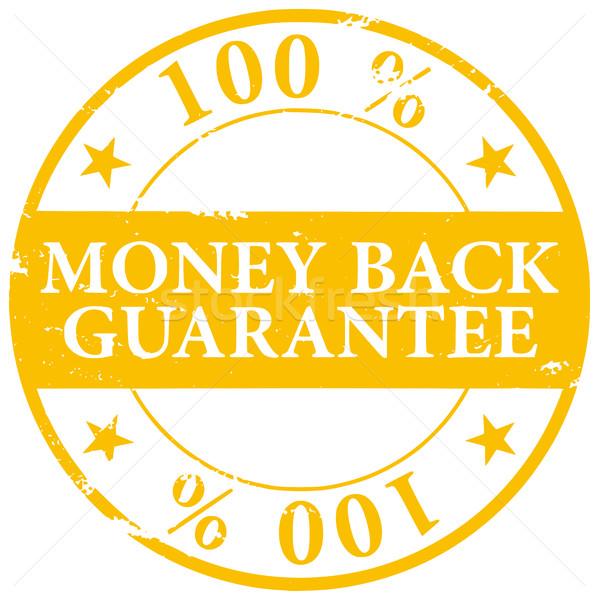 Gold colored 100% Money Back Guarantee grunge rubber stamp icon  Stock photo © ShawnHempel