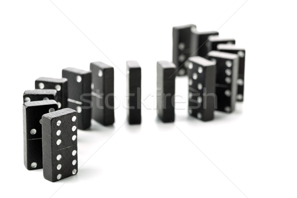 Domino game stones in a s-curve shaped row  Stock photo © ShawnHempel