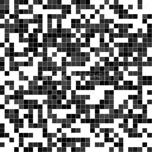 Monokróm absztrakt pixeles textúra terv technológia Stock fotó © ShawnHempel