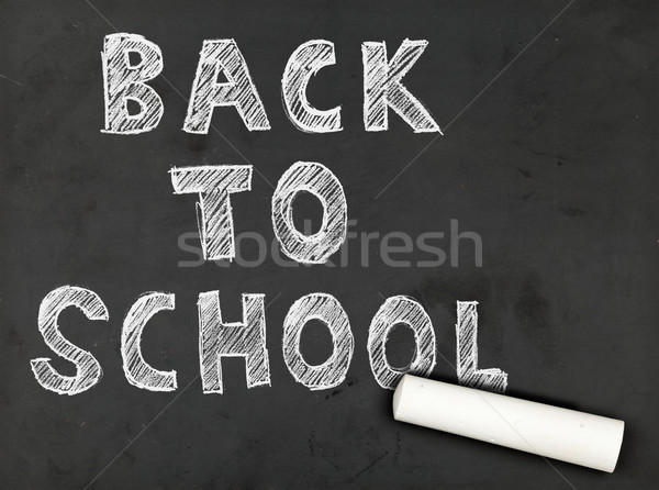 Back to school chalk writing Stock photo © ShawnHempel