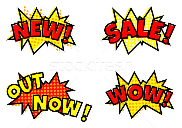 Sale cartoon baloon bubbles Stock photo © ShawnHempel