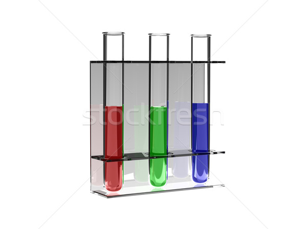 RGB test tubes Stock photo © ShawnHempel