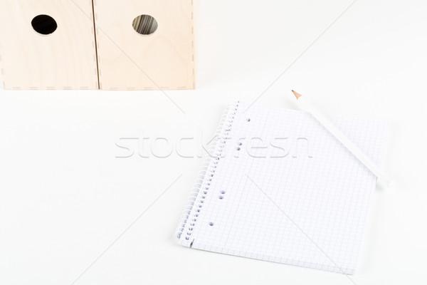 白 空っぽ 帳 鉛筆 フォルダ ストックフォト © ShawnHempel