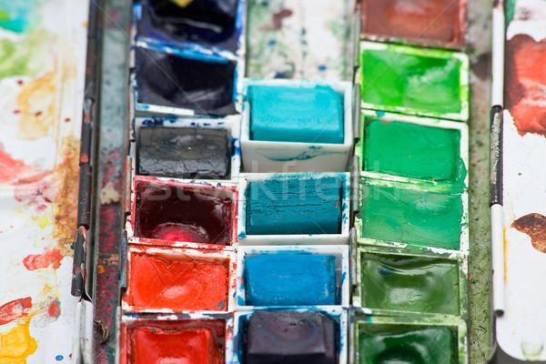 塗料 ボックス カラフル 水 色 ストックフォト © ShawnHempel