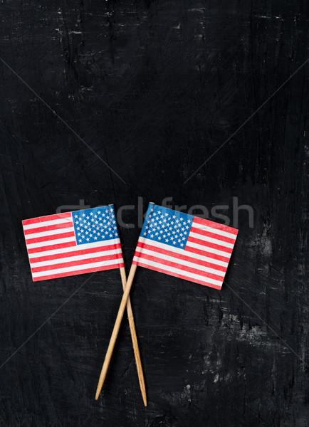 USA paper flags Stock photo © ShawnHempel