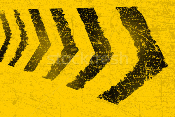 Grunge distressed black road direction marking paintbrush stroke Stock photo © ShawnHempel